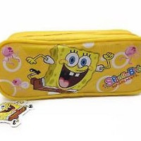 Spongebob Sponge bob Pencil Pouch/Case (Yellow) by Nickeledeon-Brand New!