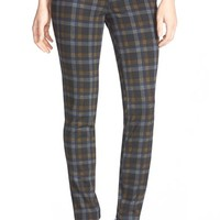 Women's KUT from the Kloth Plaid Stretch Skinny Pants,