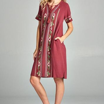 Embroidered Detail Dress