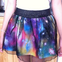 galaxy print skirt from redredrachel