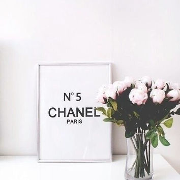 no5 chanel room decor chanel 8x10 saying funny quote typographic print inspirational tumblr room decor framed quotes funny fashion quote