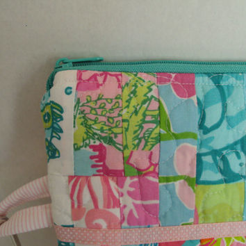 Quilted Waterproof Lilly Pulitzer Purse Tote Wet Dry Cosmetic Bag #5