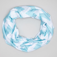Light Blue Chevron Toddler Infinity Scarf