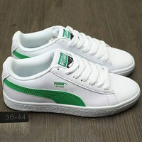 PUMA Women Men Running Sport Casual Shoes Sneakers Green G-A0-HXYDXPF