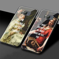 Classic art quotes Famous painting Tempered Glass Soft Silicone Phone Case Shell Cover For Samsung Galaxy S8 S9 Plus Note 8 9