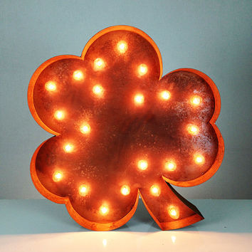 SALE  Vintage Marquee Lights - Shamrock