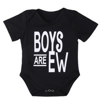 Cute Newborn Baby Boy Girl Romper Clothes Summer Short Sleeve Cotton Rompers Jumpsuit Outfits