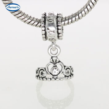 Silver Crown Charms Official Design Angle Love Pendants Boy Girl Flower Silver Beads For Women Charm Bracelets Beads Jewelry