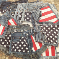 American flag shorts 4th of July
