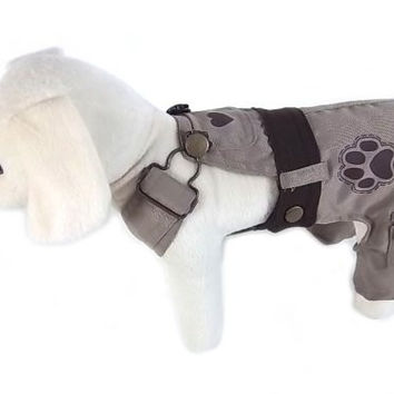 UP Collection Classic Dog Dress with Adjustable Snap Buttons, Beige, Large