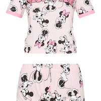 Pink DISNEY Minnie Mouse Printed Short Pyjama Set