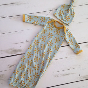 Newborn Gown- Baby Gown- Going Home Outfit- Layette- Lil Cleo
