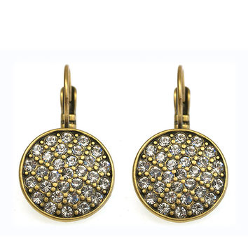 CZ DROP EARRING - GOLD