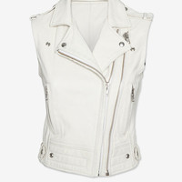 IRO Suga Leather Vest: White | Shop IntermixOnline.com