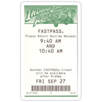 'Indiana Jones Adventure Fastpass' Sticker by erinopar