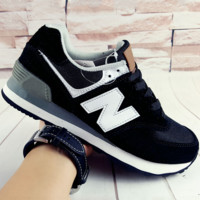 NEW BALANCE Women Men Casual Running Sport Shoes Sneakers Sapphire