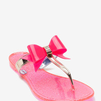 Joanie-41 Shimmer Sole Jelly Thong Sandal