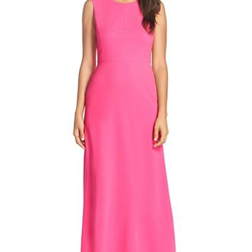Women's BCBGMAXAZRIA Colorblock Crepe Gown,