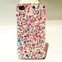 Colourful Triangle Hard Cover Case For Iphone 4/4s