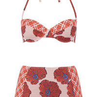 Poppy Check Bikini Set - Multi