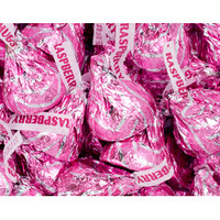 Hershey's Hugs Pink Foiled Raspberry Chocolate Candy: 60-Piece Bag