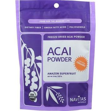 Navitas Naturals Acai Powder - Organic - Freeze-Dried - 8 oz - case of 12