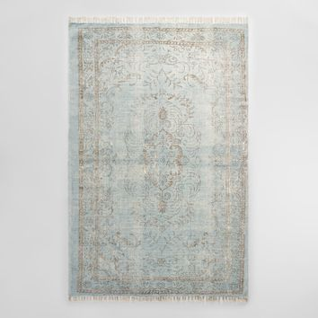 5'x8' Gray Woven Cotton Naomi Area Rug