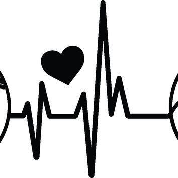 (2) TWO Heartbeat Softball/Volleyball with Heart Decal Stickers
