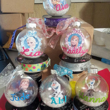 Frozen ornament set. Olaf Ornament - Elsa Ornament - Kristoff Ornament - Anna - Sven Ornament - Elsa and Anna Ornament