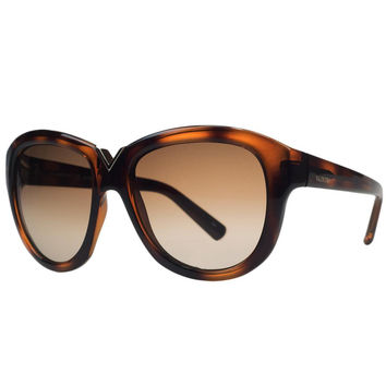 Valentino Havana Brown Round Sunglasses