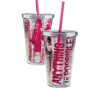 Clear Tumbler - Barbie Glassware | Barbie Collector