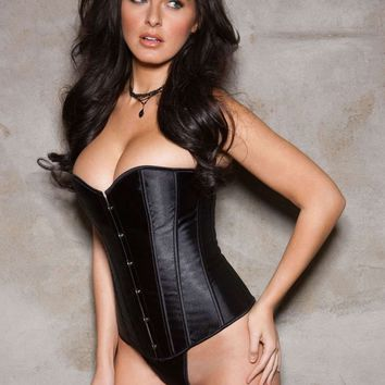 iCollection Lingerie Sweetheart Satin Corset