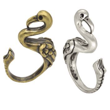 Fantastic Flamingo Adjustable Animal Wrap Ring