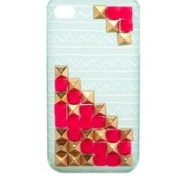 PYRAMID STUD TRIBAL PHONE CASE - 4