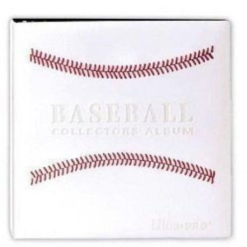 """White Stitched Baseball Card Collectors Album (3"""" D-Ring Binder) by Ultra Pro"""