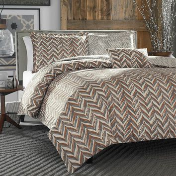 City Scene Savoy Reversible Duvet Cover Set (Grey)