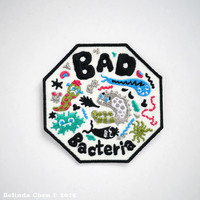 Bad Bacteria Iron On Patch
