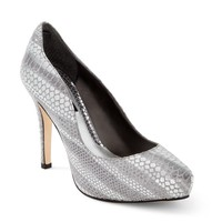 White House | Black Market Printed Metallic Snake Heel