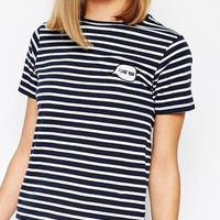 Daisy Street Stripe T-Shirt With I Like You