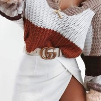 GUCCI Tide brand classic models men and women simple fashion wild belt