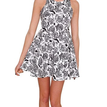 First Date Dress - White Print