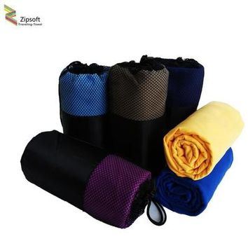 Zipsoft  Beach towels Square Fabric 80*160cm Quick-drying Travel Sports towel Blanket Swimming Camping Yoga Mat