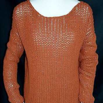 Vince  Sz Large Chunky Wool Blend Sweater Slouchy Free US Shipping EUC