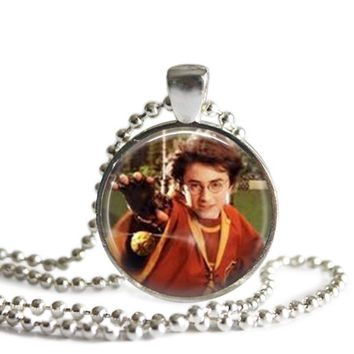Harry Potter and the Golden Snitch Silver Plated Pendant Necklace