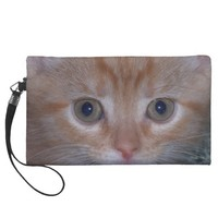 Cute Kitten Wristlet Clutch