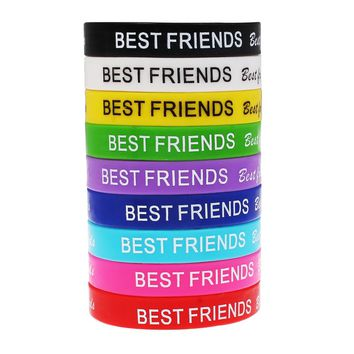 YYW Unisex Turret Games Silicone Heart Jesus Best Friend Star Bracelets Bangles Rubber Flexible Friendship Wristband Bracelets