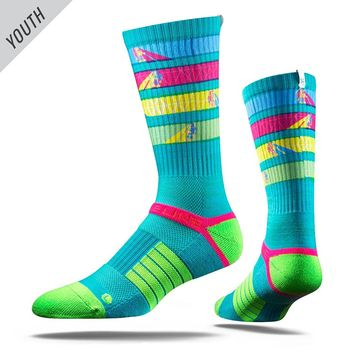 Strideline 2.0 UV Ray Youth Strapped Fit Crew Socks