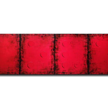 Original Large Braille painting - 20 X 64 Inches-by Artist JMJartstudio- LOVE -Wall art- Custom-