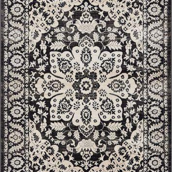 2928 Gray Vintage Medallion Oriental Area Rugs