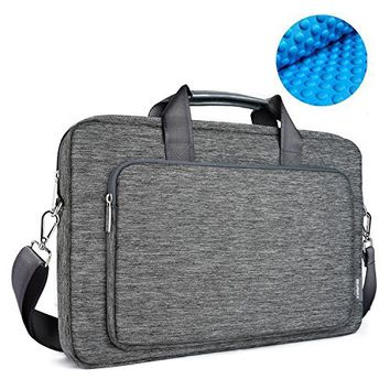 Tomtoc 15.6 Inch Laptop Shoulder Bag, 360° Protective Laptop Sleeve Case for 15 - 15.6 Inch ThinkPad Dell HP Acer ASUS Toshiba Samsung Chromebook Notebook Ultrabook Laptop Tablet, Light Gray